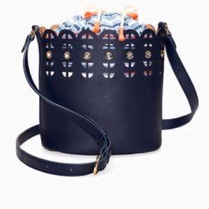 Navy Stella & Dot Bucket Bag